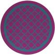 rug #858351 | round blue-green borders rug