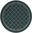 rug #858391 | round blue-green borders rug