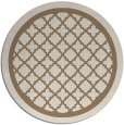 rug #858411 | round beige borders rug