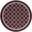 rug #858419 | round pink traditional rug
