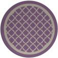 rug #858443 | round purple rug