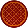 rug #858459 | round orange geometry rug