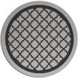 rug #858471 | round red-orange traditional rug