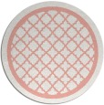 rug #858487 | round pink traditional rug