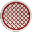 rug #858515 | round red traditional rug