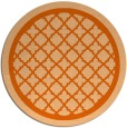 rug #858527 | round red-orange borders rug