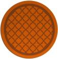 rug #858531 | round red-orange borders rug