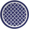 rug #858547 | round white borders rug