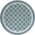 rug #858555 | round white traditional rug