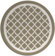 rug #858559 | round white traditional rug