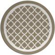 rug #858559 | round beige borders rug