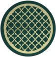 rug #858583 | round blue-green borders rug