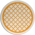 rug #858615 | round light-orange traditional rug