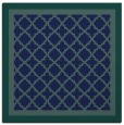 rug #862339 | square blue borders rug