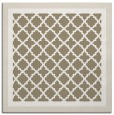 rug #862447 | square mid-brown borders rug