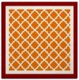 rug #862495   square orange borders rug
