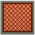 rug #862503 | square red-orange borders rug
