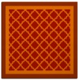 rug #862543 | square red traditional rug