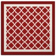 rug #862547 | square red traditional rug