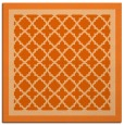 rug #862559 | square red-orange traditional rug