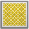 rug #862607 | square yellow borders rug