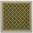 rug #862631 | square light-green borders rug