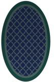 rug #862675 | oval blue borders rug