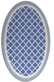 rug #862683   oval blue popular rug