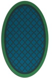 rug #862703 | oval blue traditional rug