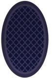 rug #862723 | oval blue-violet borders rug