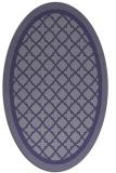 rug #862727 | oval blue-violet popular rug
