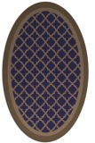 rug #862743 | oval beige traditional rug
