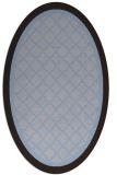 rug #862747 | oval blue-violet traditional rug