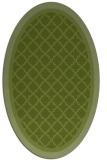 rug #862755 | oval green borders rug