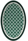 rug #862763 | oval green geometry rug