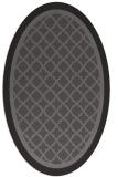 rug #862775   oval mid-brown borders rug