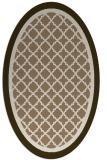 rug #862779 | oval beige borders rug