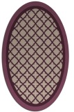 rug #862787 | oval pink borders rug