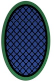 rug #862799 | oval black borders rug