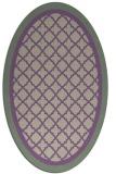 rug #862811 | oval purple borders rug