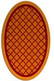 rug #862827 | oval orange borders rug
