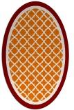 rug #862831 | oval orange borders rug
