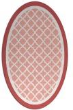 rug #862855 | oval white traditional rug