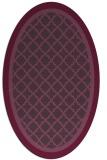 rug #862859 | oval purple borders rug