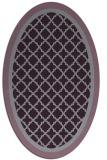 rug #862871 | oval purple borders rug