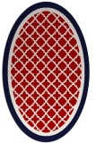 rug #862875 | oval red traditional rug