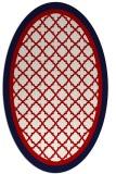 rug #862876 | oval borders rug