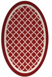 rug #862883   oval red traditional rug