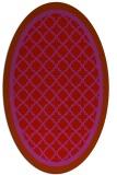rug #862887 | oval red rug