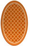 rug #862895 | oval red-orange borders rug